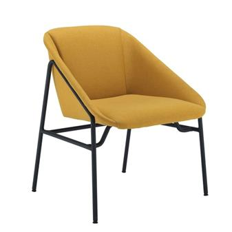Ruby Reception Chair in Mustard Fabric