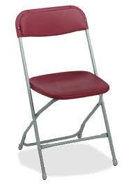 Fold Flat chair burgundy