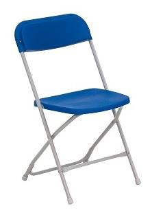 Fold Flat Chair Blue