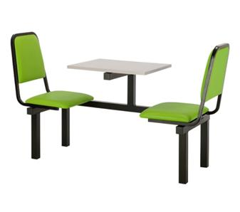 SD2 Fast Food Unit - 2-Seater, Grey Table