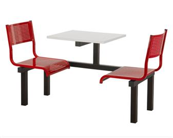 SD3 Fast Food Unit - 2 Seater, White Table