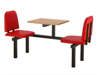 SD4 Fast Food Unit - 2 Seater, Beech Table