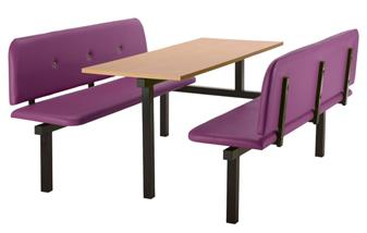 SD5 Fast Food Unit - 6 Seater, End Access, Beech Table