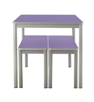 Centro Dining Table & Benches - Purple Tops