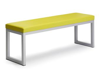 Moto Bench With Padded Upholstered Seat