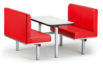 Uno Fast Food Upholstered Seating Unit
