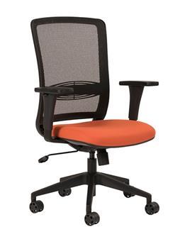 Plexus Mesh Back Operator Chair - Upholstered Seat