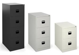 SO Steel Filing Cabinets - Coffee & Cream, Grey, Black