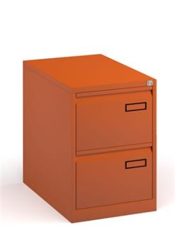 Orange Contract 2-Drawer Filing Cabinet