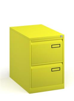 Yellow Contract 2-Drawer Filing Cabinet