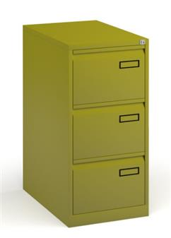 Green Contract 2-Drawer Filing Cabinet