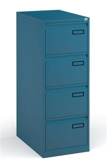 Blue Contract 4-Drawer Filing Cabinet