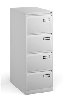 White Contract 4-Drawer Filing Cabinet