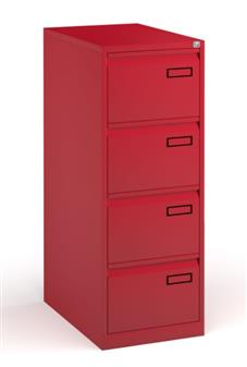 Red Contract 4-Drawer Filing Cabinet