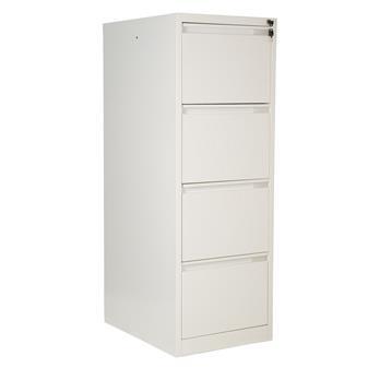 White Metal 4-Drawer Filing Cabinet