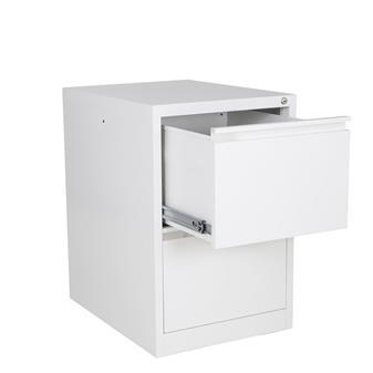 White Metal 2-Drawer Filing Cabinet