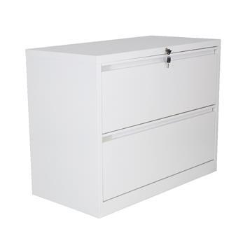 2-Drawer Side Filing Cabinet - White