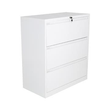 3-Drawer Side Filing Cabinet - White