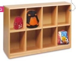 8 Compartment Bag Storage Unit