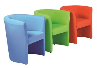 Asti Tub Chairs - Fabric - Single