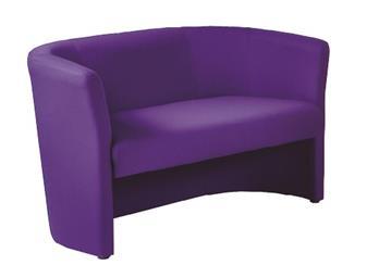 Asti Tub Chairs - Fabric - 2-Seater