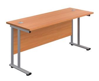 Start 600mm Deep Desk In Beech
