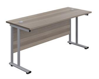 Start 600mm Deep Desk In Grey Oak