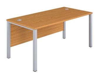 Goalpost Leg Desk - Oak