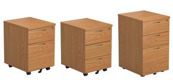 Under Desk Pedestals (2-Drawer, 3-Drawer & Tall 3-Drawer)