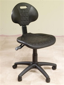 LAB Polyurethane Lab Operator Chair With Adjustable Height & Back