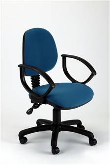 MIMPA Medium-Back Operator Chair With Fixed Arms - Vinyl