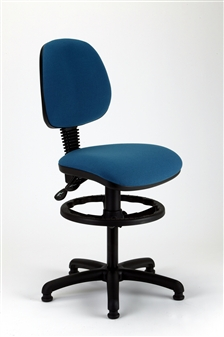 MIMPD Medium Back Draughtsman Chair - Vinyl