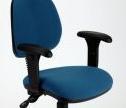 MIMPDZA Medium Back Draughtsman Chair + Adjustable Arms - Vinyl