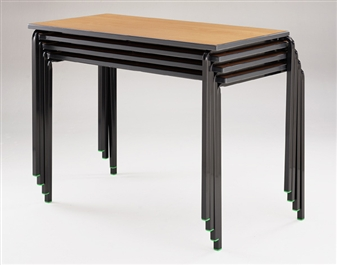 Crushed Bent Frame Tables PVC Edge - Nested