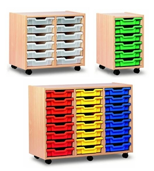 Shallow Plastic Tray Storage