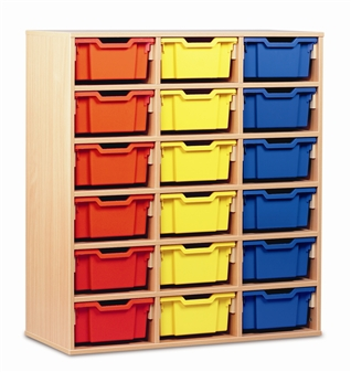 Wooden 18 Deep Tray Storage Static