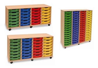 Shallow Plastic Tray Storage - 4 Store Range