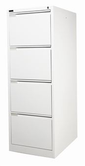 Grey 4-Drawer Filing Cabinet
