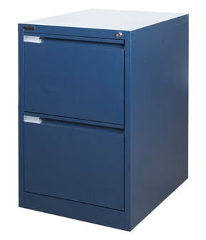 Blue Metal 2-Drawer Filing Cabinet