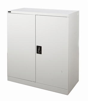 Half-Height Grey Stationery Storage Cupboard