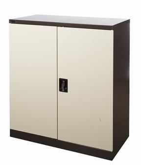 Half-Height Brown/Beige Stationery Storage Cupboard