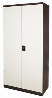 6ft Brown/Beige Stationery Storage Cupboard
