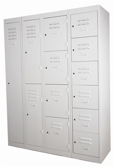 Lockers Can Be Nested & Bolted Together