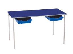 Classroom Table With Plastic Tray Drawers