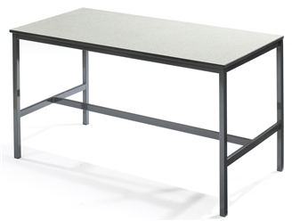 Fully Welded H-Frame Table With Chemical & Heat-Resistant Laminate Top