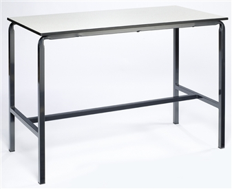 Crushed Bent H-Frame Table With Chemical & Heat-Resistant Laminate Top