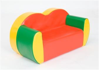 2-Seater Block Colour Sofa