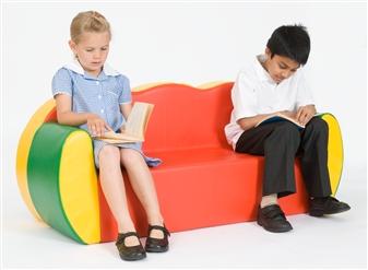 3-Seater Block Colour Sofa
