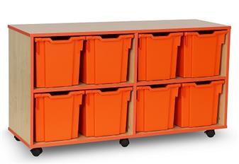 Coloured Edge 8 Jumbo Tray Storage Mobile