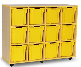 Coloured Edge 12 Jumbo Tray Storage Mobile